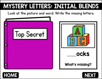 Initial Blends Game -  Phonics Game for Smartboards & Whiteboards