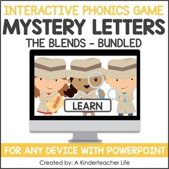 Initial Blends Game -  Phonics Game for Smartboards & Whiteboards Bundle