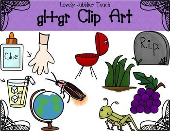 Initial Blends: Gl and Gr Clip Art