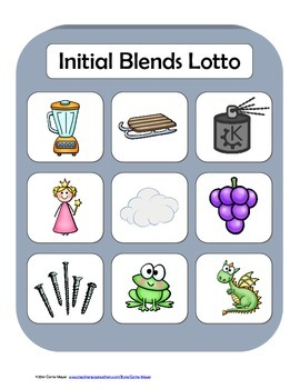 Initial Blends Lotto Game