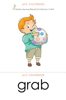 (07) Initial Blends Picture to Label Matching  – Short Vowels