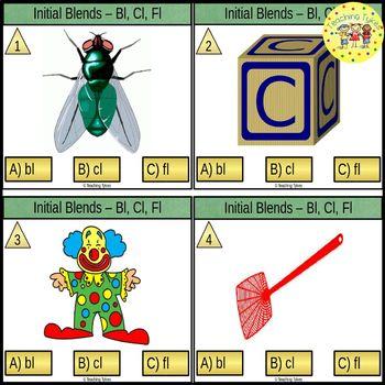 Initial Blends Task Cards Bl Cl Fl