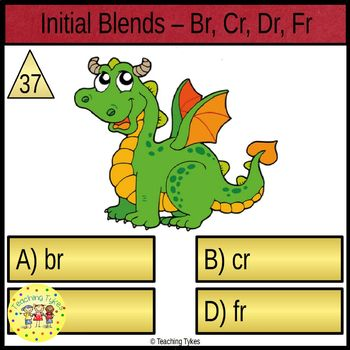 Initial Blends Task Cards Br Cr Dr Fr