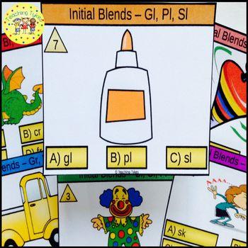 Initial Blends Task Cards Gl Pl Sl