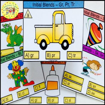 Initial Blends Task Cards Gr Pr Tr