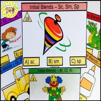 Initial Blends Task Cards Sc Sm Sp