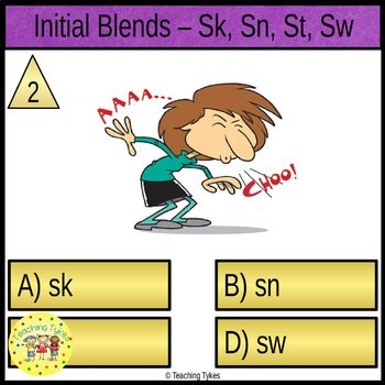 Initial Blends Task Cards Sk Sn St Sw
