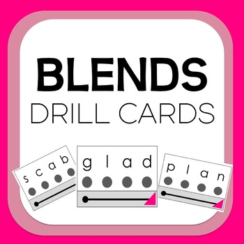 PHONICS Initial Blends Visual Decoding Drill Cards