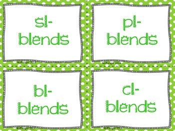 Initial Blends: Word Sort with QR Codes