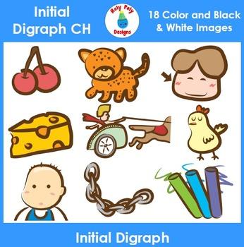 Initial CH Digraph Phonics Clip Art