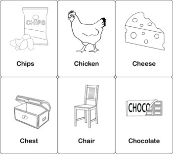 Initial CH Flashcards 3x5 in Color and B&W