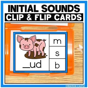 CVC Words Initial Sounds Clip Cards Center