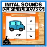 CVC Words Initial Sounds Clip Cards Center