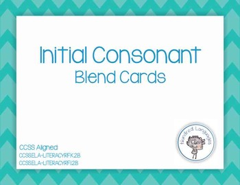 Initial Consonant Blend Cards