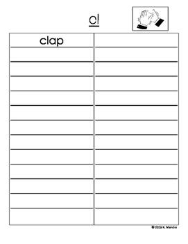 Initial Consonant Blend Student Book