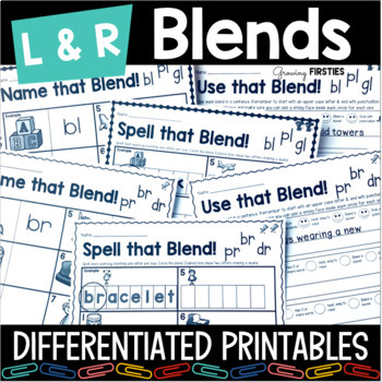 Initial Consonant Blends - Differentiated Practice