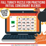 Initial Consonant Blends Digital Practice With A Thanksgiv