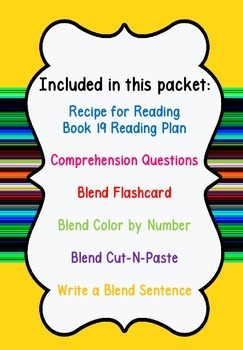 Initial Consonant Blends Homework Packet (Recipe for Reading) Book 19