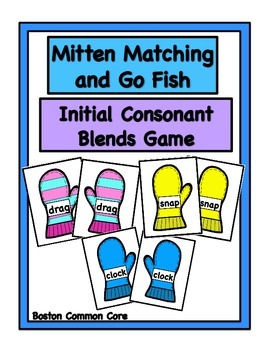 Initial Consonant Blends Mittens Game