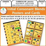 Initial Consonant Blends Posters and Cards