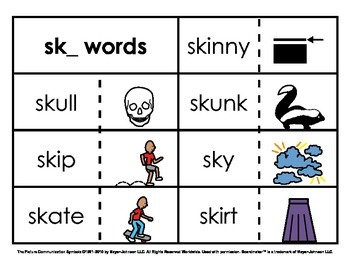 Initial Consonant Blends Sorts (Set 1 - 1st Letter S Blends)