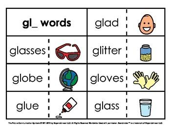 Initial Consonant Blends Sorts (Set 2 - 2nd Letter L Blends)