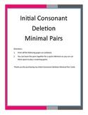 Initial Consonant Deletion Minimal Pair Cards