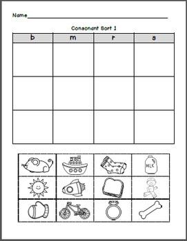 Initial Consonant Fun: Sorts, Bingo, Scoot