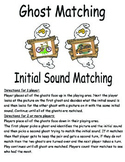 Initial Sound Matching game - Halloween Ghost theme