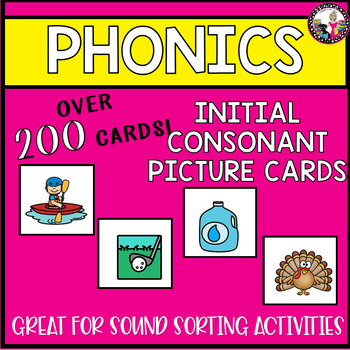 Initial Consonant Picture Cards for Sorting Activities-Set 1