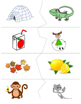 Initial Consonant Picture Puzzle
