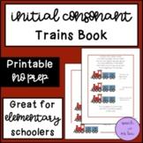 Initial Consonant Train Book!!