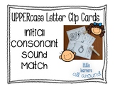 Initial Consonant Uppercase Letter Match Clip Cards