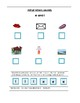 Phonics----Initial letter Worksheet e and l for the non-writer