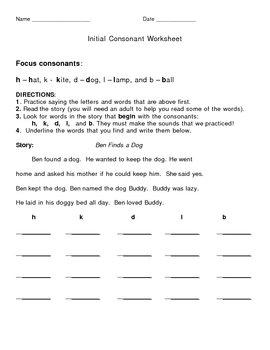 Initial Consonants 2