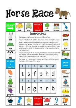 Literacy Circles Initial Consonants Board Game