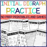 Initial Consonant Digraph Worksheets
