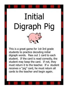 Initial Digraph Pig Game