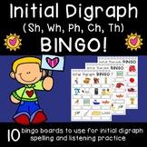 Initial Digraph (Sh, Wh, Ph, Ch, Th) Bingo!