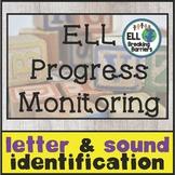 Letter Identification & Sounds, ELL Progress Monitoring