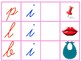 Initial, Ending, Middle Sound Identification Mats for Small MA in Cursive