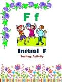 Initial F - Sorting Activity - File Folder Game
