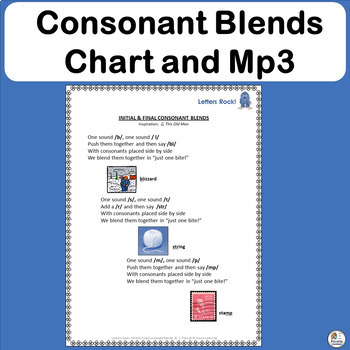 FREE! Consonant Blends Song complete with chart and mp3! | Phonics is Jolly Fun!