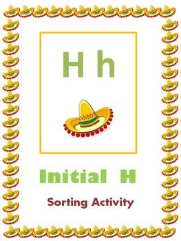 Initial H - Sorting Activity - File Folder Game