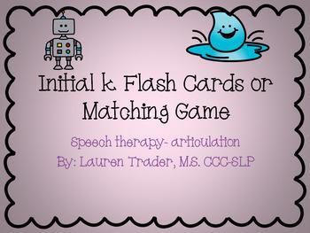 Initial K Flash Cards or Memory Game