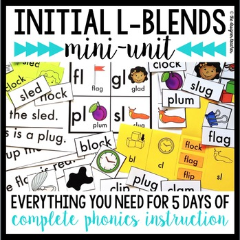 Phonics By Design Initial L Blends Mini-Unit