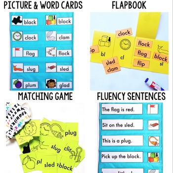 Initial L Blends Phonics By Design Mini-Unit | L Blends Activities