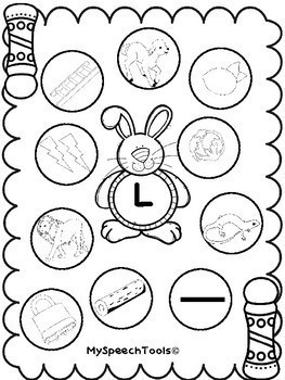 """PRINT AND GO! Initial """"L"""" and """"L""""-Blend Spring Dot Pages"""