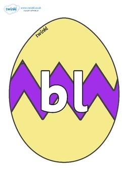 Initial Letter Blends on Easter Eggs (Cracked)