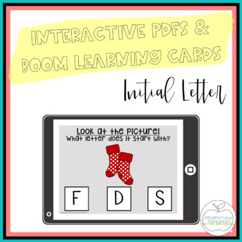 Initial Letter Interactive PDF for Special Education